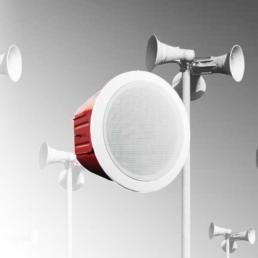 Altavoces speakers para sistemas de evacuación y emergencia por voz EVAC voice evacuation EN54
