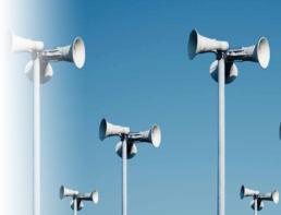Equipos y productos para aplicaciones de audio y megafonía ude public address PA megafonía