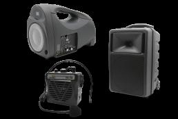 equipos portátiles para aplicaciones de audio y megafonía